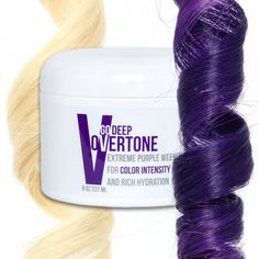 oVertone Extreme Purple Go Deep Weekly Treatment is an intensely hydrating, color depositing conditioner that can add bold color to your hair and keep your color looking salon fresh.