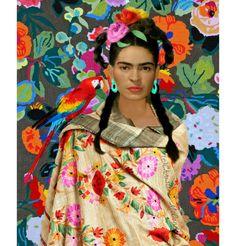 Frida parrot print
