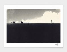 """Town"" - Limited Edition Print by Dan Matutina for Curioos"
