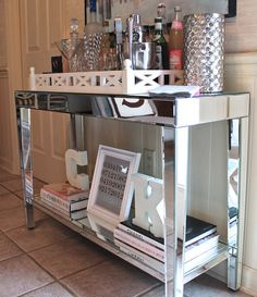 """Check out our web site for even more details on """"bar cart decor inspiration"""". It is actually an exceptional place to read more. Home Interior, Interior Decorating, Ikea, Bar Cart Decor, Mirrored Furniture, Mirrored Table, Small Furniture, My New Room, Bars For Home"""