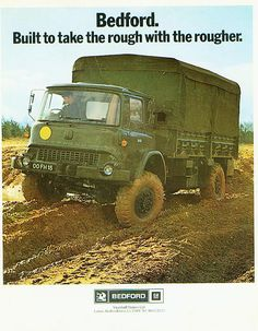 Bedford M type advertising from 1973 Big Rig Trucks, Cool Trucks, Bedford Truck, Bedford Buses, South African Railways, Old Lorries, Army Day, Army Vehicles, Classic Trucks
