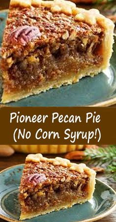Pecan Desserts, Pecan Recipes, Just Desserts, Baking Recipes, Sweet Recipes, Delicious Desserts, Yummy Food, Pecan Pie Recipe No Corn Syrup, Cake Mix Desserts