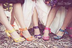 colorful bridesmaid shoes!