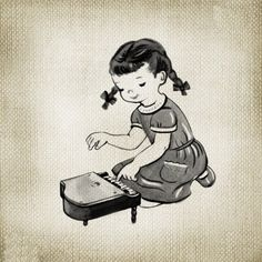 Niños vintage  - Pianista
