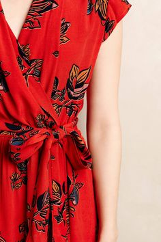 Noronha Wrap Dress - anthropologie.com https://tumblr.com/Zuhqqc2Pj0Spv Red Dress Casual, Red Wrap Dress, Wrap Dress Outfit, Wrap Dress Short, Red Floral Dress, Wrap Dresses, Dress Skirt, Pretty Outfits, Pretty Dresses
