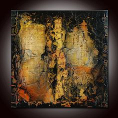 Abstract Textured Sculpted Original Painting by Andrada