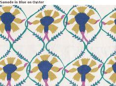 Bright & Beautiful Samode in Blue from @Mally Skok Design #MallySkok #fabric #Studio534