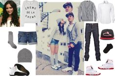 """""""Cutest Swag Couple Ever C :"""" by aliciarangel ❤ liked on Polyvore"""