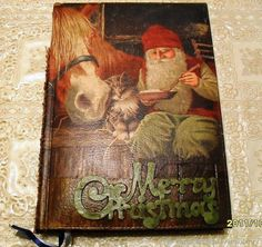 Daily Planner Daily Planner rustic style by RussianshawlRustic Christmas Gift Box, Merry Christmas, Ded Moroz, Christmas Decoupage, Decoupage Box, Rustic Style, Vintage Style, Day Planners, Handmade Gifts