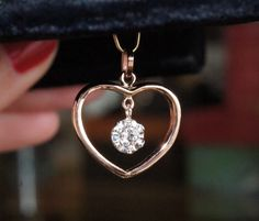 Old band shaped into heart with dangling diamond in an illusion setting Wedding Ring Necklaces, Heart Wedding Rings, Wedding Band, Mom Ring, Memorial Jewelry, How To Make Necklaces, Stone Jewelry, Diamond Pendant, Vintage Jewelry