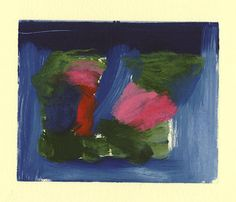 I made a series of small prints in the form of 'Theme and Variations' all in the style of Howard Hodgkin.