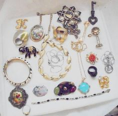 19 Piece Vintage Jewelry Lot, 1 SS Pin, Mixed Lot #Unbranded