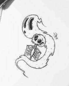 Arte criada por Billy Russo (r_billy. Realistic Pencil Drawings, Dark Art Drawings, Pencil Art Drawings, Art Drawings Sketches, Tattoo Drawings, Cool Drawings, Tattoos, Desenhos Old School, Trippy Drawings