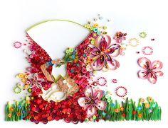 Paper art by Yulia Brodskaya: Cherry blossoms