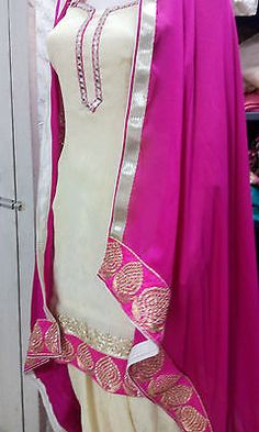 Ethnic Bollywood Designer Punjabi Patiala Indian Salwar kameez Wedding suit