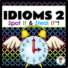 $ Time flies when you are having fun! Teach idioms through this interactive game! #figurativelanguage