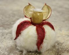 Red Cotton Boll Angel