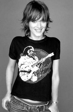 Winona rocking Neil Young tee