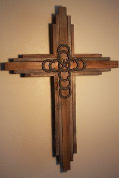 OKLAHOMA  CROSS  Large Wooden Rustic Cross   by OkieBudsWorkshop