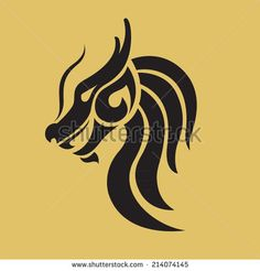Dragon logo vector design template, dragon icon. - stock vector