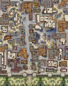 Homebrewing room Up on My Last Remix Map. (Urza_Is_Mine, gogots-daxcrls, Others) - battlemaps Fantasy Map Making, Fantasy City Map, Fantasy Rpg, Medieval Fantasy, Dungeons And Dragons Homebrew, D&d Dungeons And Dragons, Dnd World Map, Dnd Dragons, Village Map