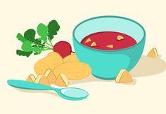 Papinha de frango, beterraba e batata Ingredientes - ½ filé de frango picado - 1 colher (chá) de cebola - 1 batata grande picada...