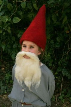 Felted gnome hat and beard. Best beard I've seen.