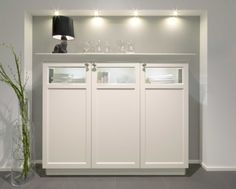 The Bristol door range in Magnolia. Illuminated glass units giving a contrast reflecting today's country-house style.