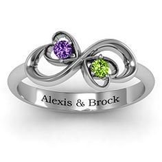 Duo of Hearts and Stones Mother's Ring. Maybe with my mom's and my girl's stones