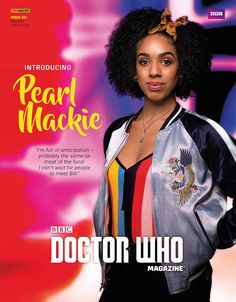 Pearl Mackie in the latest edition of Doctor Who Magazine!
