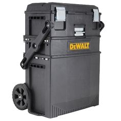 Do you every wish for a portable option that offers a little more than a tool box? The Dewalt Mobile Work Center provides a ton of storage space in. Dewalt Tool Box, Dewalt Tools, Dewalt Storage, Tool Storage, Truck Storage, Craft Storage, Cool Tools, Diy Tools, Hand Tools