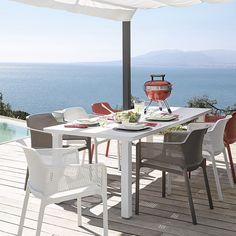 comedor de exterior mesa levante y sillas net
