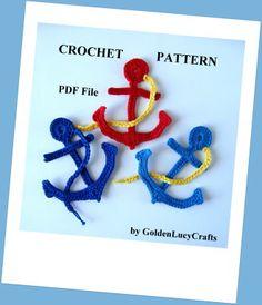 Crochet Pattern Anchor Applique | Crochet Pattern | YouCanMakeThis.com