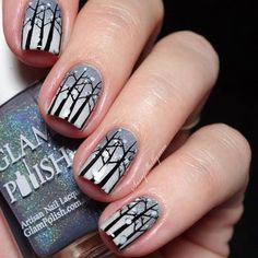 winter-snow-storm-trees-christmas-nails
