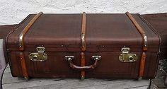 Shabby chic - Antiker grosser Überseekoffer Vintage Deko Oldtimer Koffer ~1900