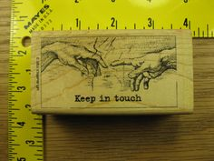 KEEP IN TOUCH STAMPIN UP SAYING HANDS CREATION OF ADAM Rubber Stamp #1595