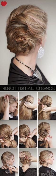 French Fishtail Braid hair style
