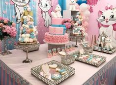 Aristocats Pretty Kitty Birthday Party - Birthday Party Ideas for Kids and Adults Hello Kitty Cake, Hello Kitty Birthday, Cat Birthday, Birthday Gifts For Girls, Pretty Cats, Pretty Kitty, Adele Birthday, Birthday Party Decorations, Birthday Parties
