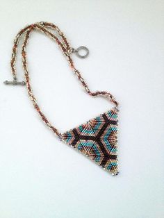 Instant Download Aurora Sky beaded necklace