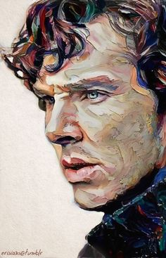 Sherlock - strokes of genius in this beautiful oil portrait. Sherlock Series, Sherlock Holmes, Sherlock Poster, Sherlock Drawing, Portraits, Wow Art, Contemporary Artwork, Martin Freeman, Benedict Cumberbatch