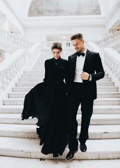 Sweet Surprises from Him Black tie - couple Classy Couple, Stylish Couple, Rich Couple, White Couple, Elegant Couple, Fashion Couple, Couple Outfits, Couple Photography, Wedding Pictures