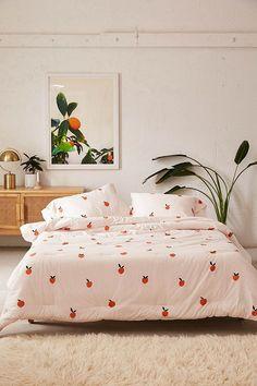 Dorm Color Schemes, Dorm Room Colors, Peach Comforter, Comforter Sets, Pink Bedding, Cotton Bedding, Urban Outfitters Bedding, Sweet Home, Bed Sets