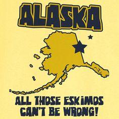 State Pride Alaska Funny Novelty T Shirt Z11717 by RogueAttire, $18.99