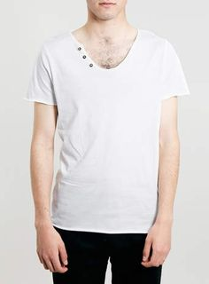 GREY MARL RAW NOTCH T-SHIRT