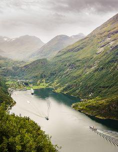 Geiranger seen from Ørneveien   Flickr - Photo Sharing!