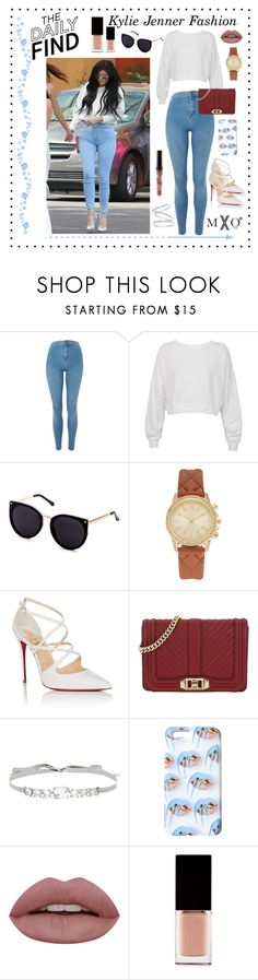 """""""The Daily Find: Kylie 1"""" by mxogirl ❤ liked on Polyvore featuring Topshop, Sans Souci, Christian Louboutin, Rebecca Minkoff, Jenny Packham and Serge Lutens"""
