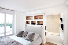 a warm wood home in taiwan with a beautiful cozy reading nook pillows reading nooks and bedrooms. Black Bedroom Furniture Sets. Home Design Ideas