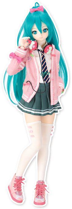 Ribbon Girl Outfit Set | Hatsune Miku×Dollfie Dream(R) | VOLKS INC.