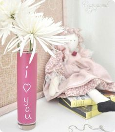 Chalkboard Vase (creative way for your friend to leave messages for their roommate)