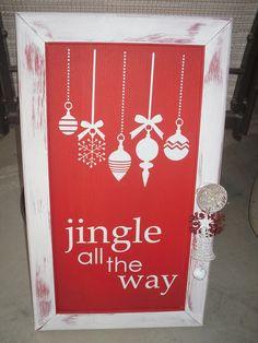 Jingle All the Way - cabinet door - tutorial